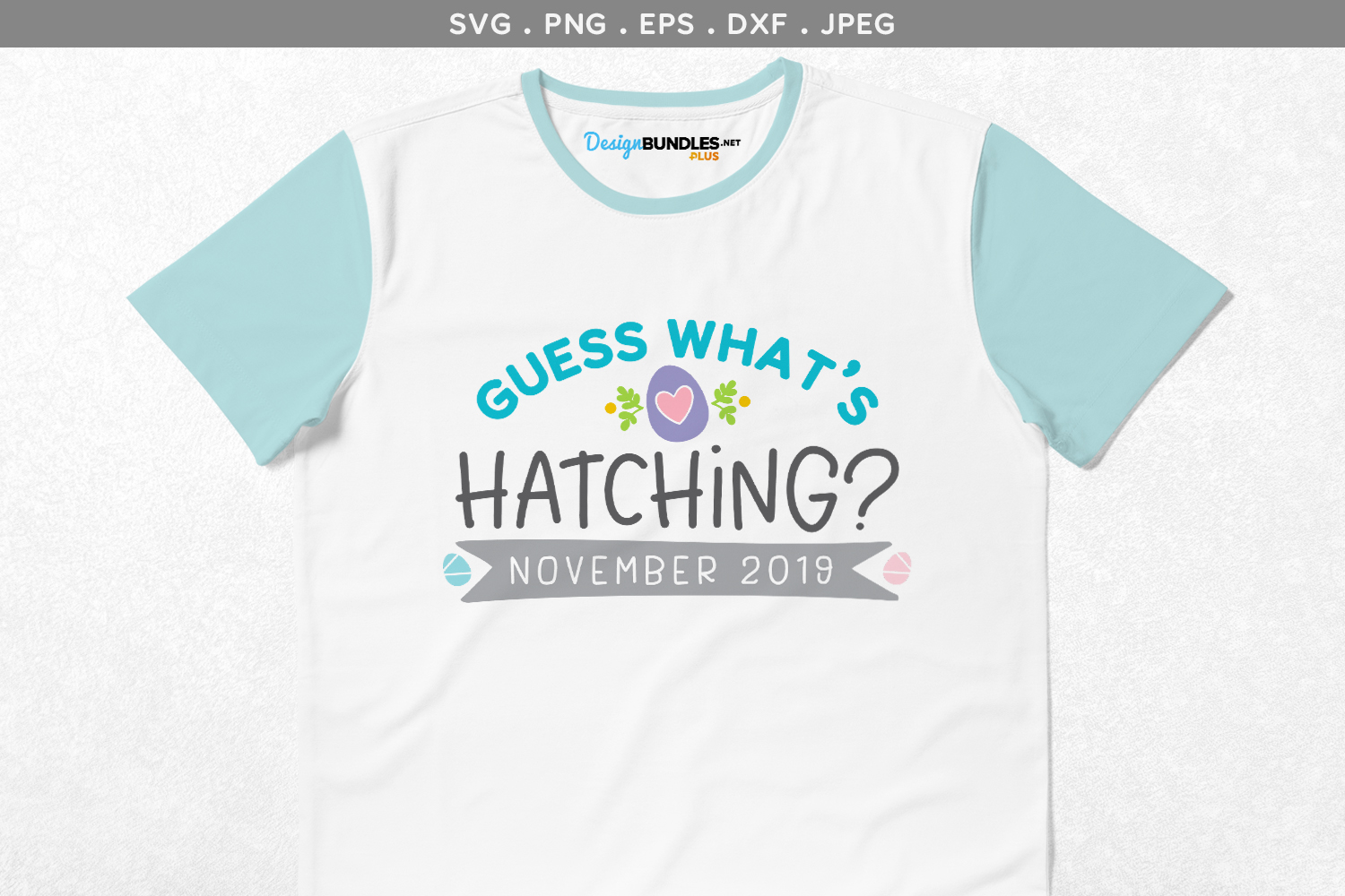 Guess What's Hatching - svg cut file & printable example image 1