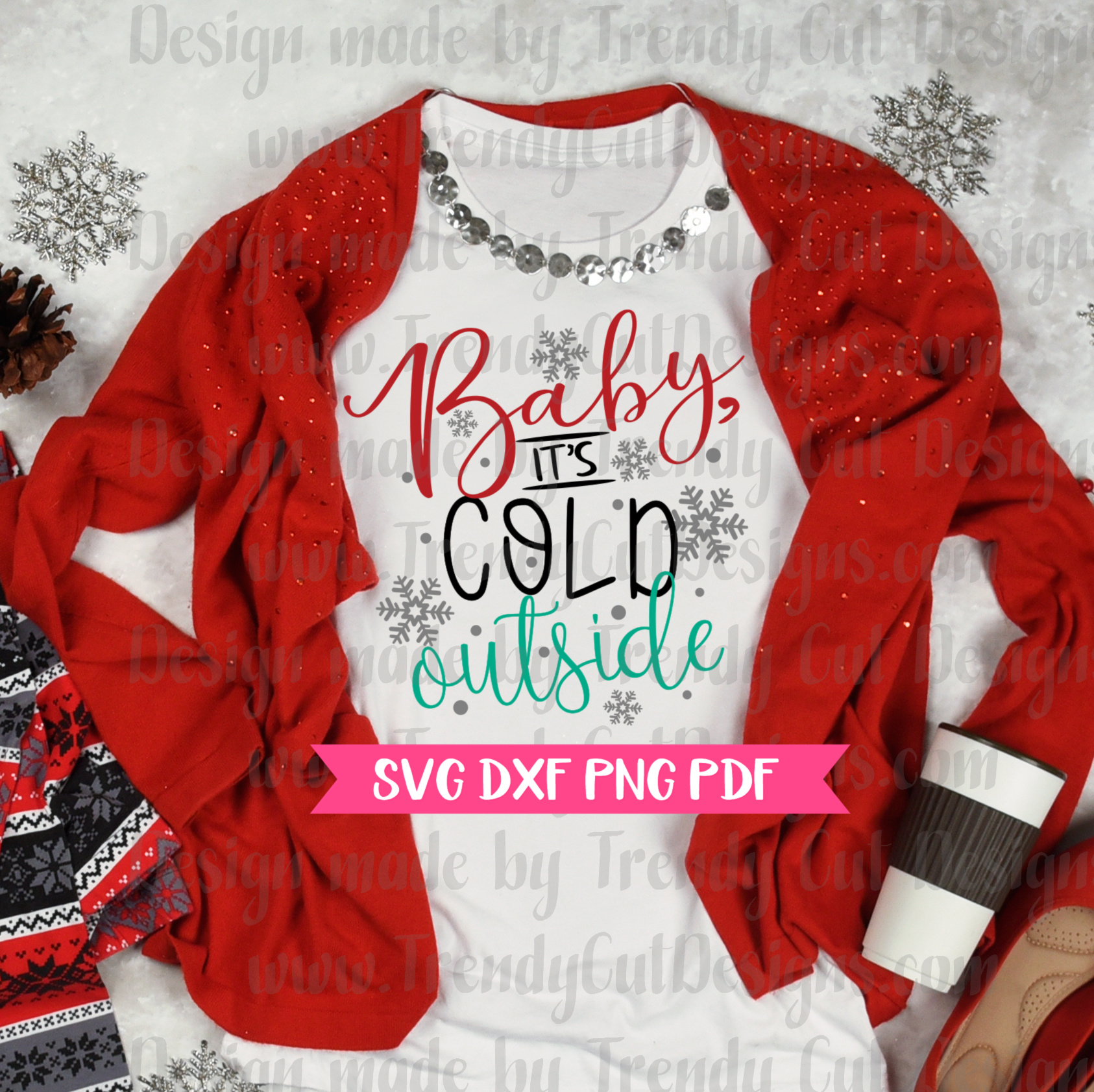 Baby it's cold outside SVG example image 2