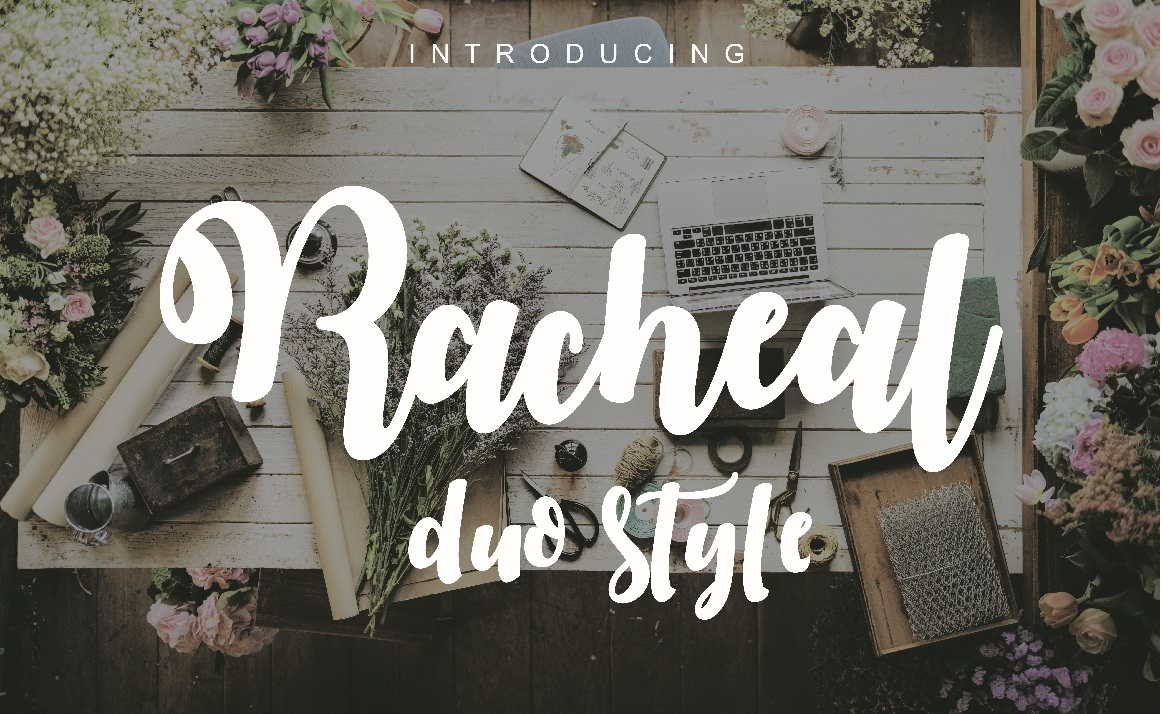 Racheal script-duo style example image 1