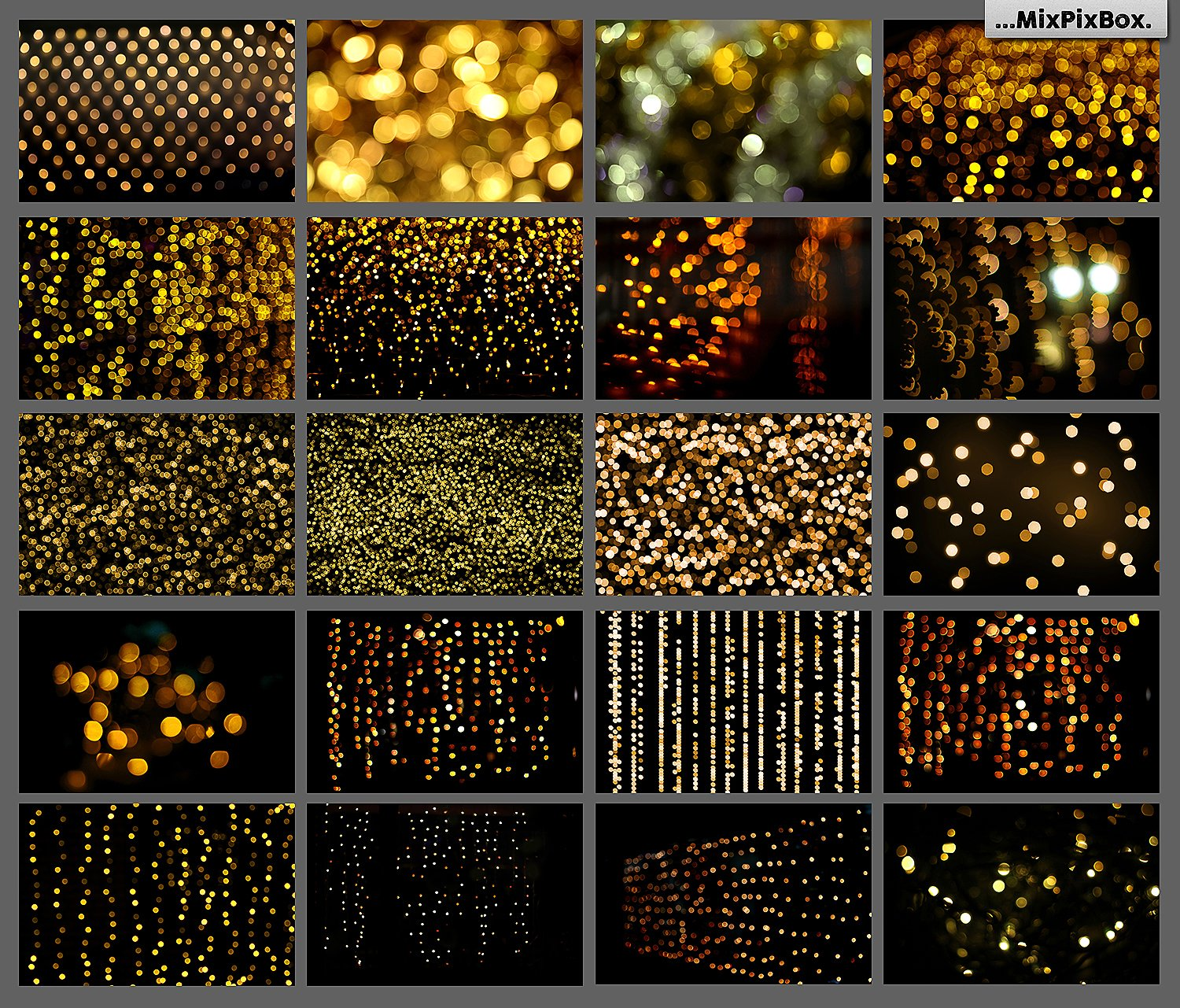 100 Golden Lights Photo Overlays example image 7