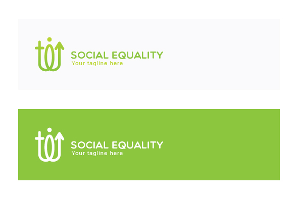 Social Equality - Male & Female Gender Iconic Abstract Stock example image 2