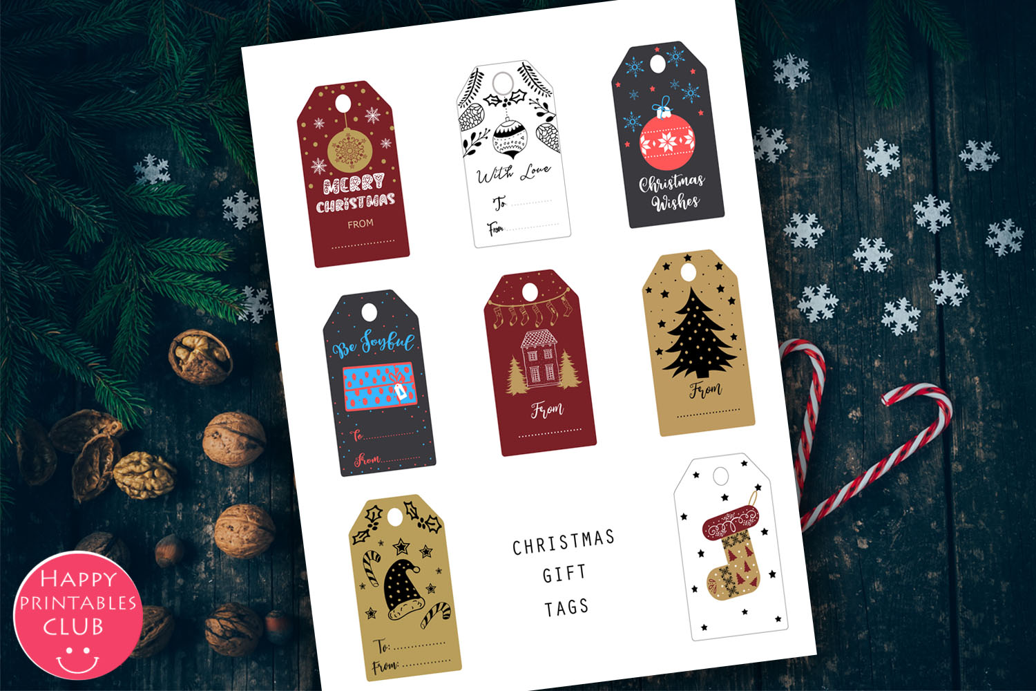 Christmas Cards-Gift Tags-Labels/Holiday Cards Tags Labels example image 6