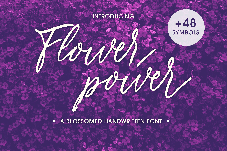Flower Power script font example image 1
