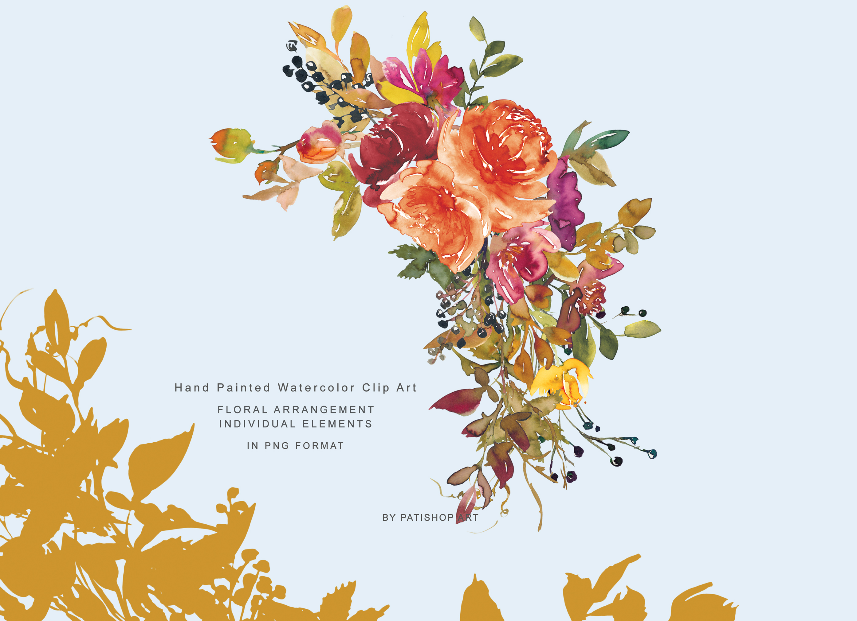 Autumn Colors Flowers Clipart Wine Sweet Brown Mystic ...