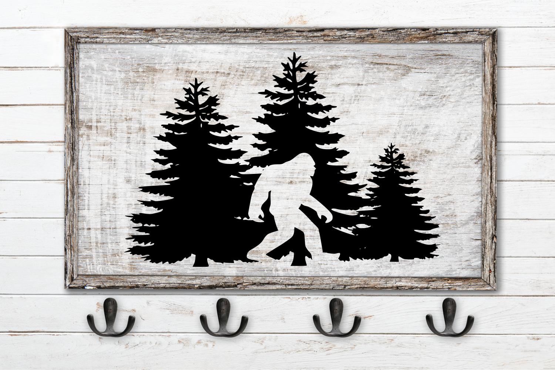 Sasquatch Hidden In Tree SVG example image 1