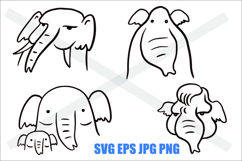 Elephant - SVG EPS JPG PNG example image 1