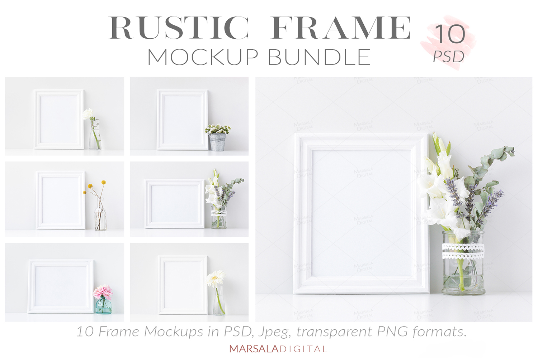 Massive Interior Wall Mockup, Frame Mockup Bundle FREE sampl example image 22