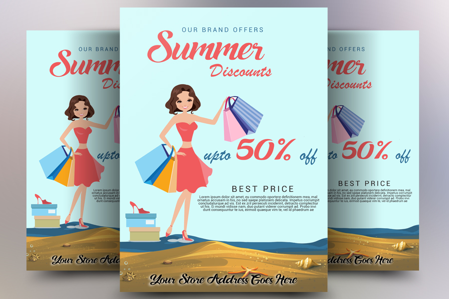 Summer Discount Flyer example image 1