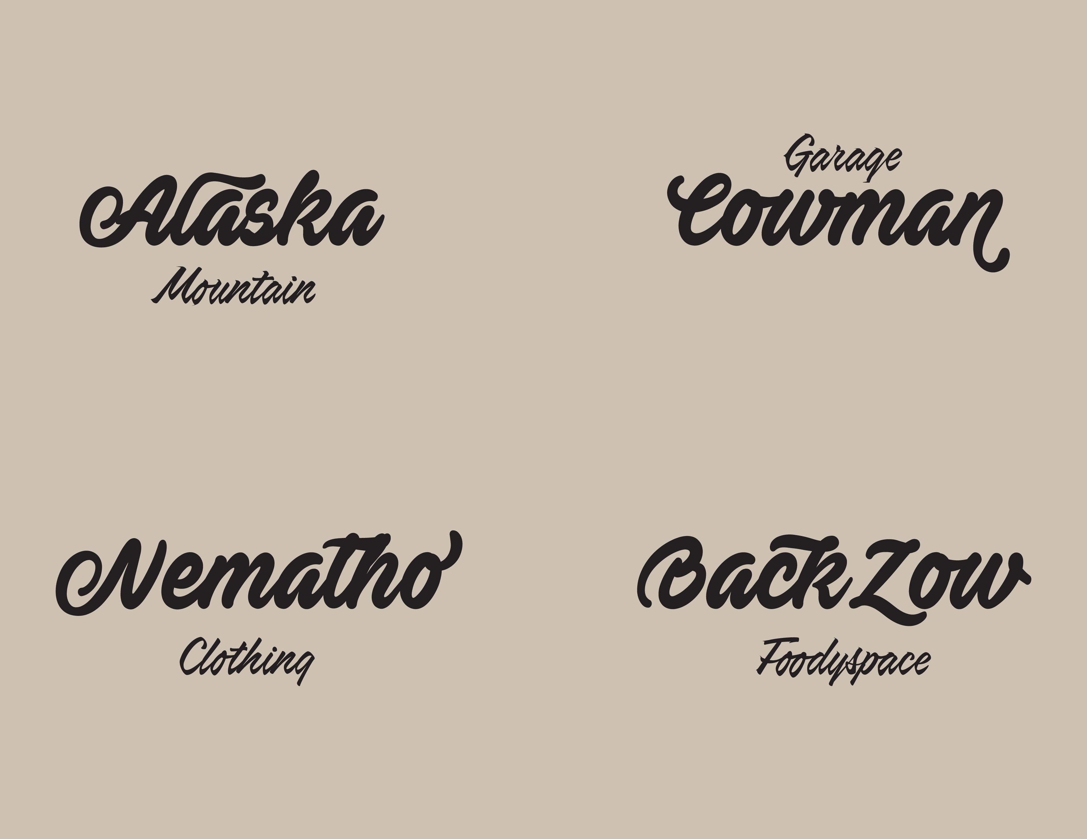 Matheo -bold script lettering example image 2