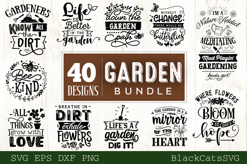 Garden SVG bundle 40 designs Gardening SVG bundle example image 2