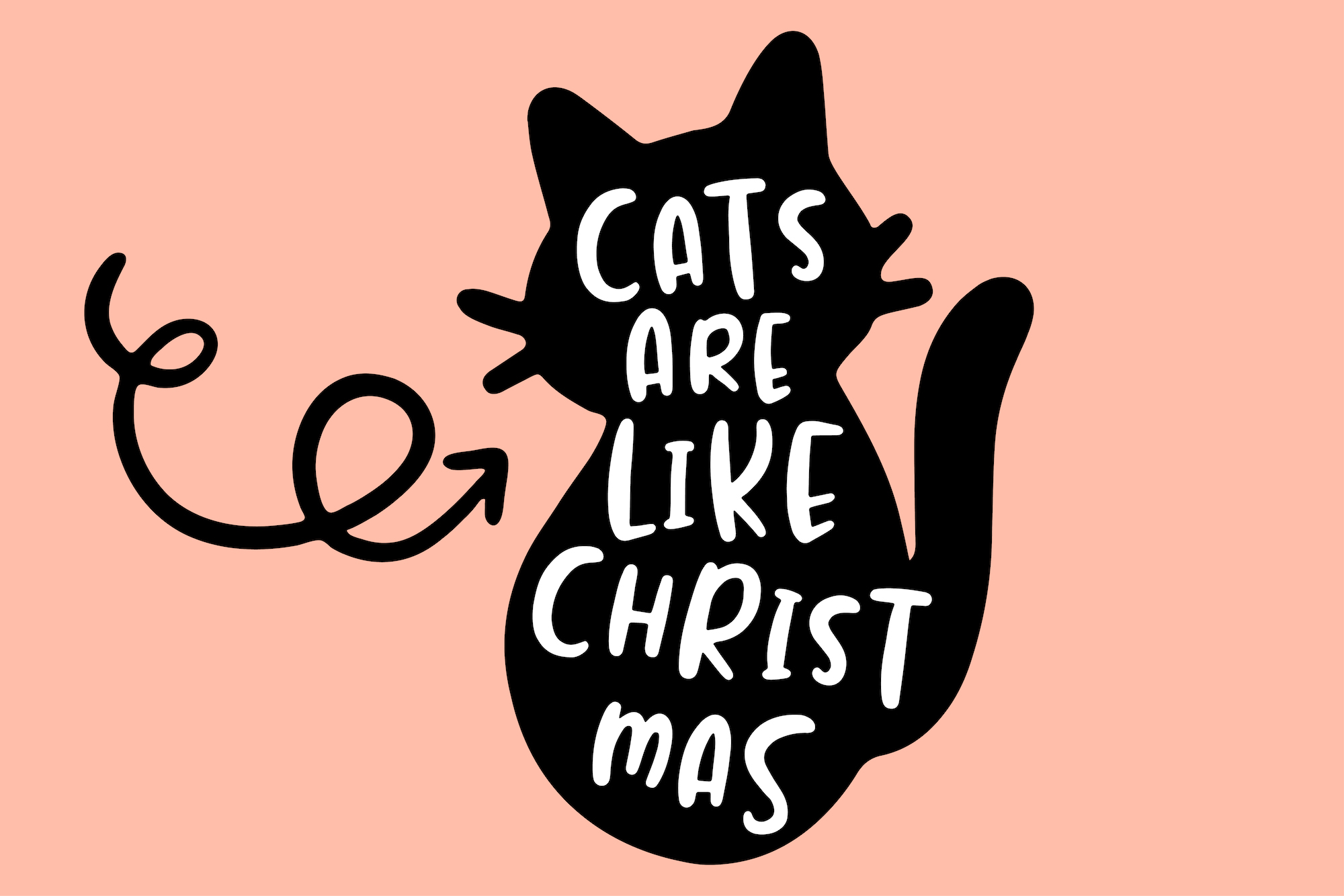 Jealous Kitty - Christmas Happy Font example image 7