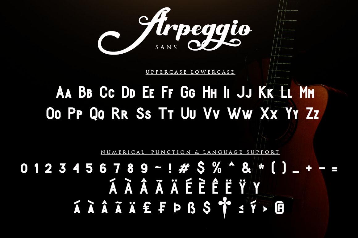 Arpeggio l Font Duo&6 Logo Templates example image 11