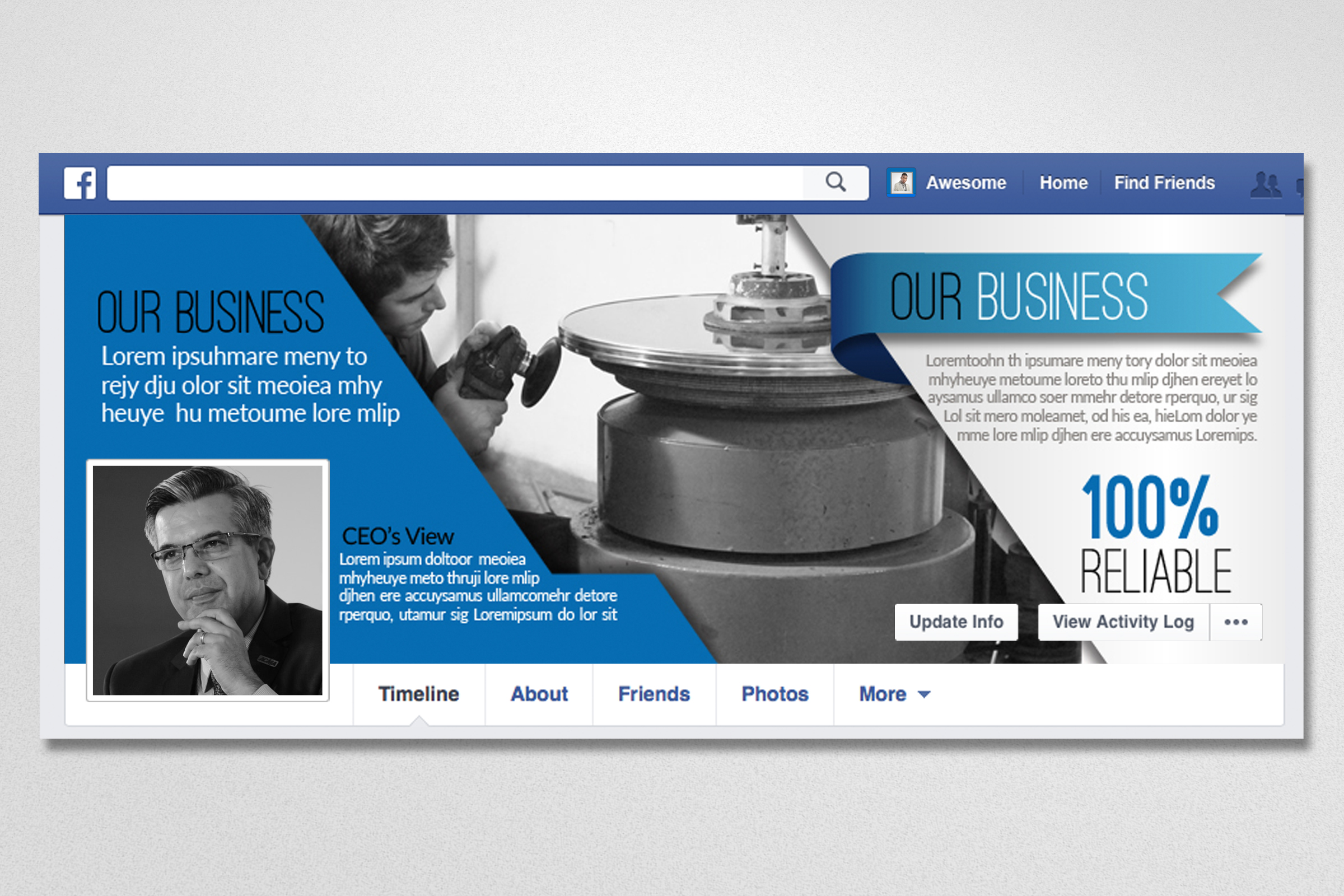 Business Facebook Timelines 03 example image 3