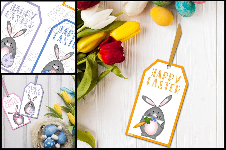 Printable Easter Gift Tags, Gray Bunnies example image 2