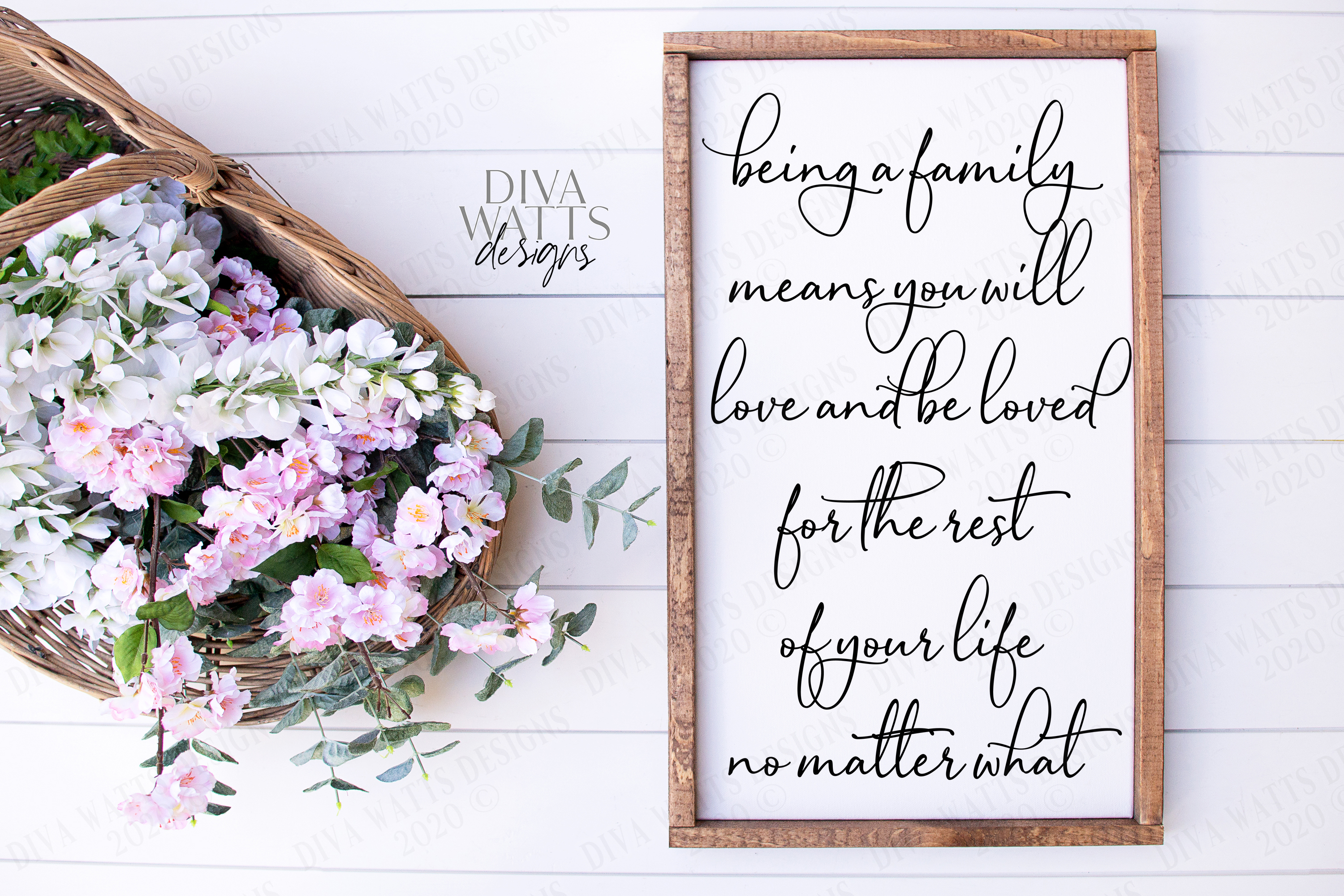 Being A Family Means You will Love and Be Loved Cutting File example image 1