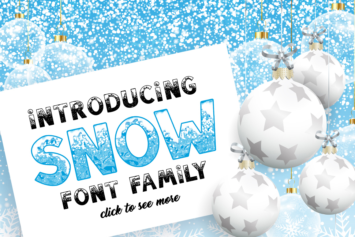 SNOW - Font Family for Christmas! example image 2