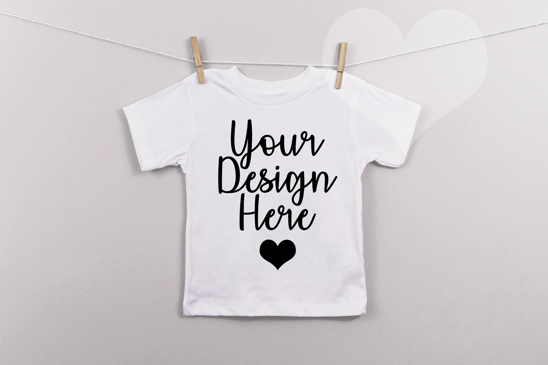 White Bella Canvas 3001t Unisex T Shirt Mockup Kids