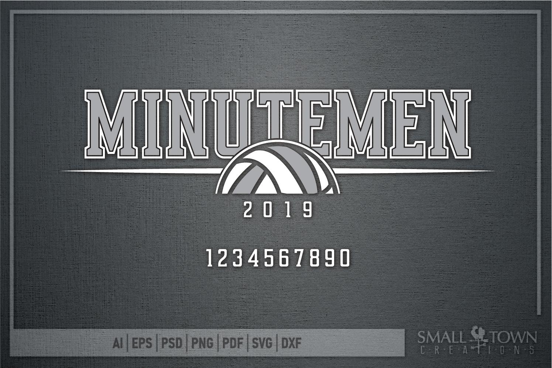 Minutemen Volleyball, Logo, Team, Sport, PRINT, CUT & DESIGN example image 5