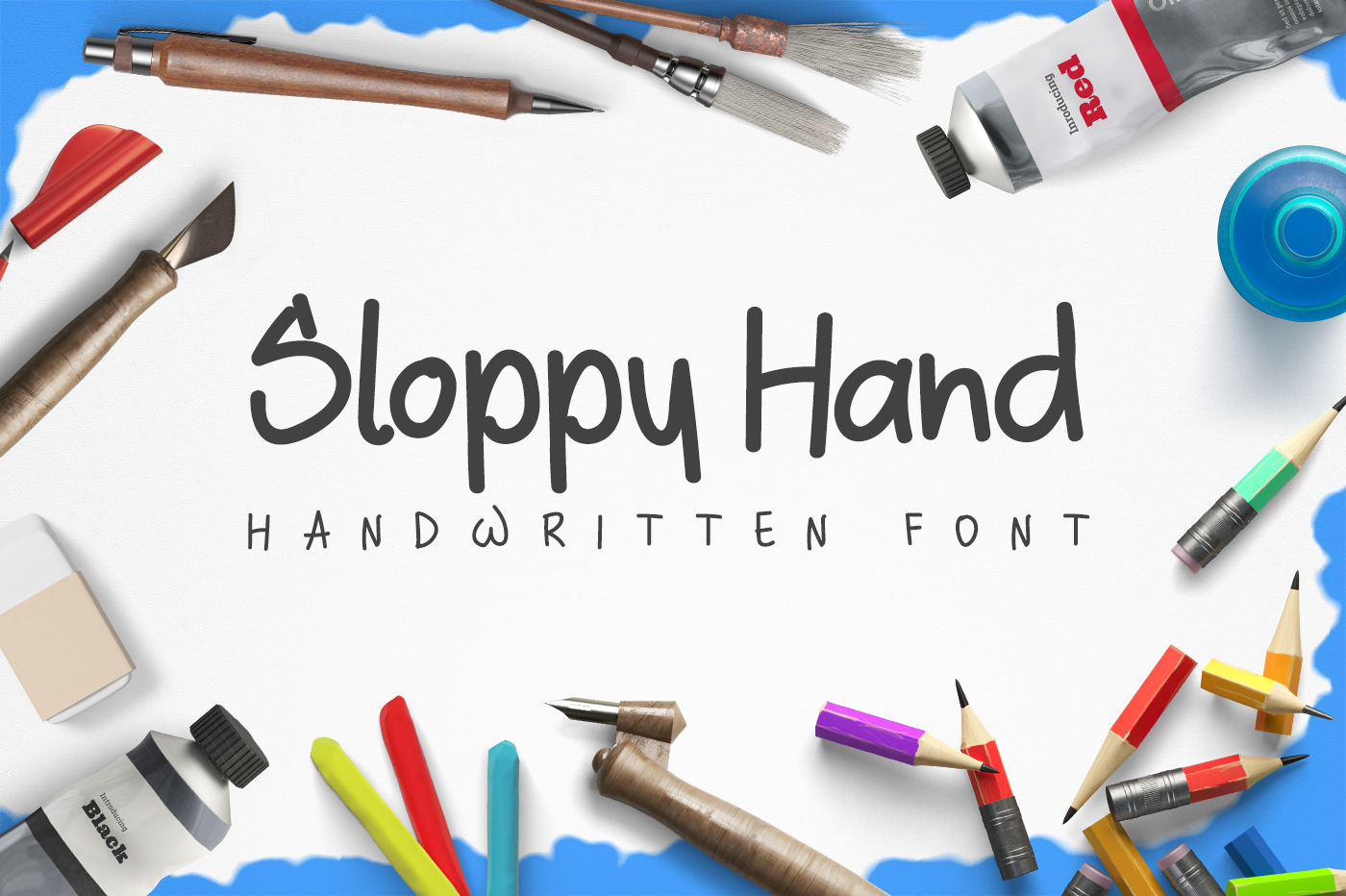 Sloppy Hand - a Handwritten Font example image 1
