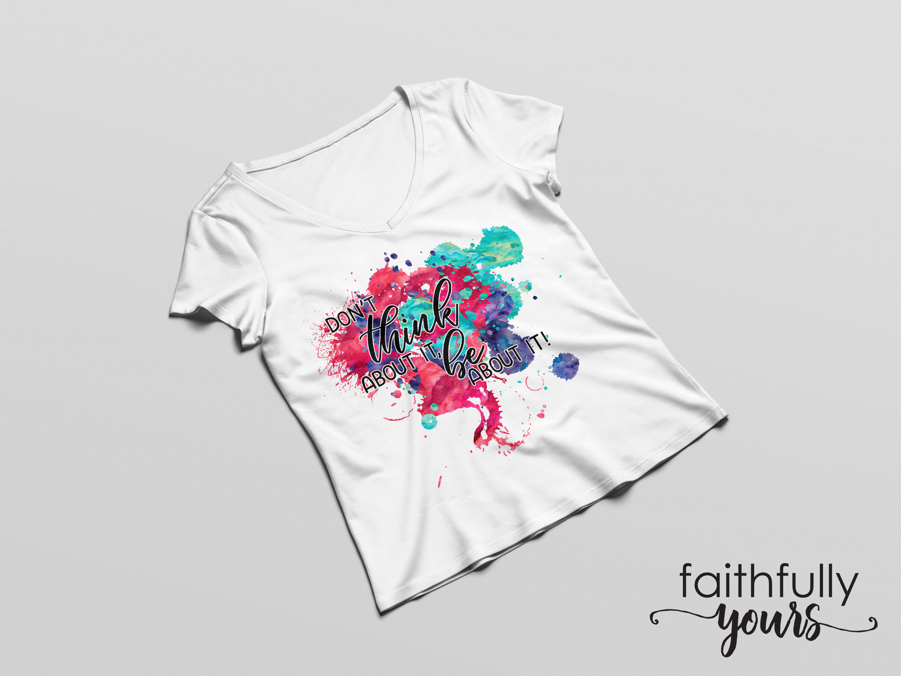 Don't think about it, be about it! Sublimation Design PNG example image 4