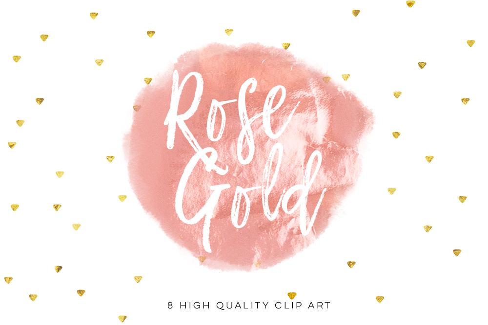 Rose gold circle brush strokes, Rose Minimal Decor strokes, Simple Painting clip art, Rose Gold Circle Frame, Handpainted brush strokes example image 2