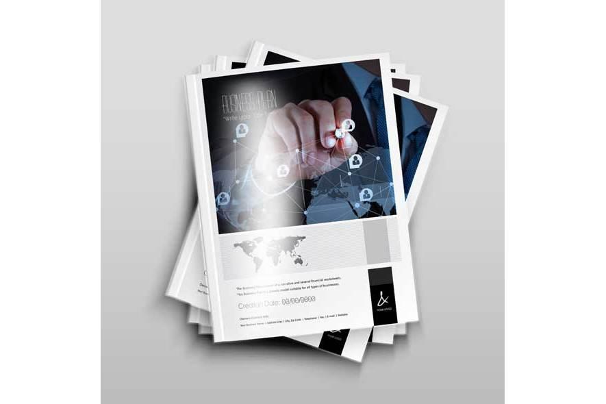 Business Plan Template - A4 Portrait example image 3