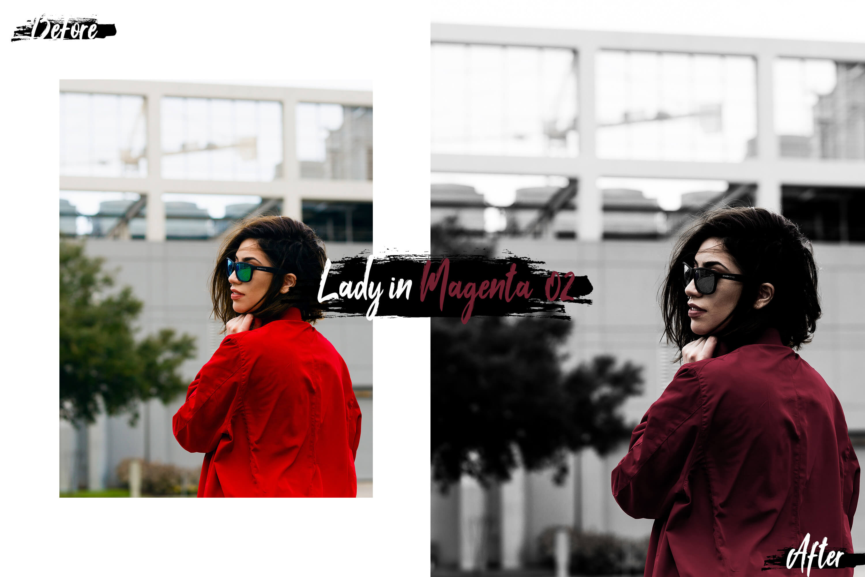 10 Lady In Color Mobile Lightroom Presets, woman in red example image 3