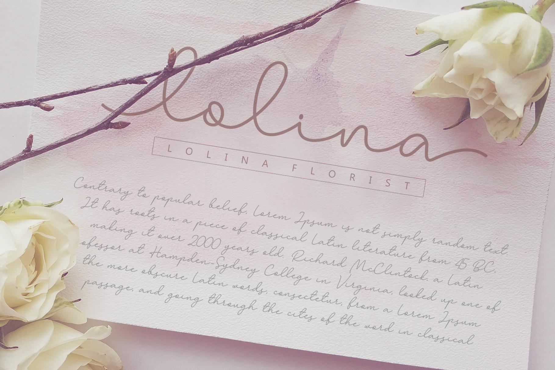 Larianti Monoline Handwritten Font example image 5