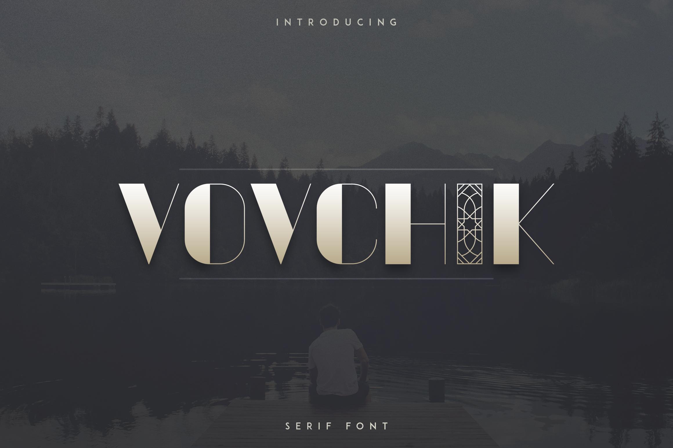Vovchik Serif Font example image 1