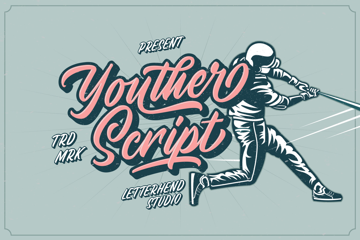 Youther Script - Layered Font Duo example image 13