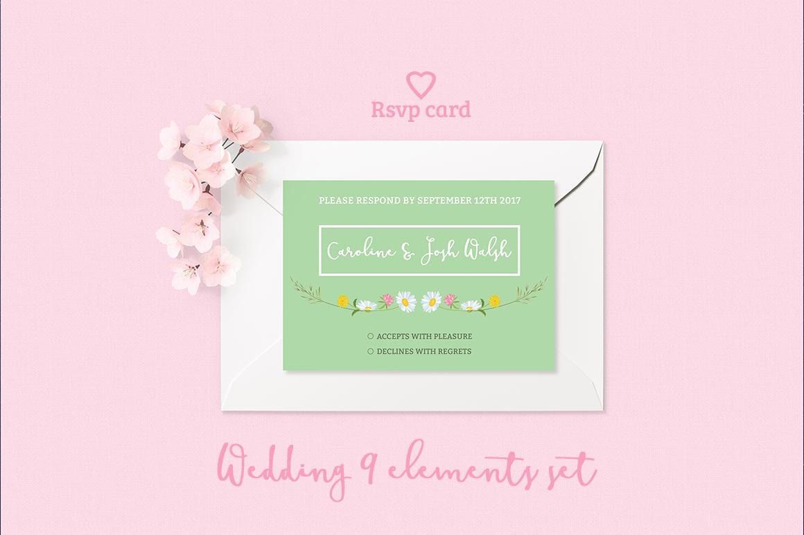 Summer Wedding Invitation Set example image 4