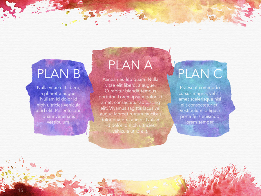 Watercolor PowerPoint Template example image 18