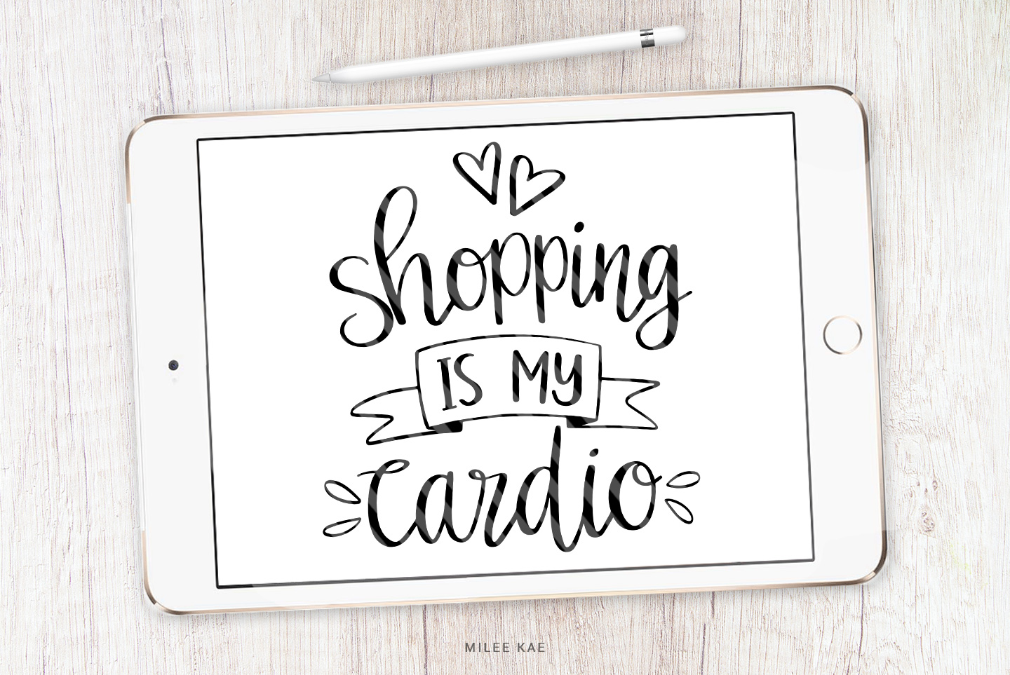 Shopping Funny Quote SVG, Cutting file, Decal example image 1