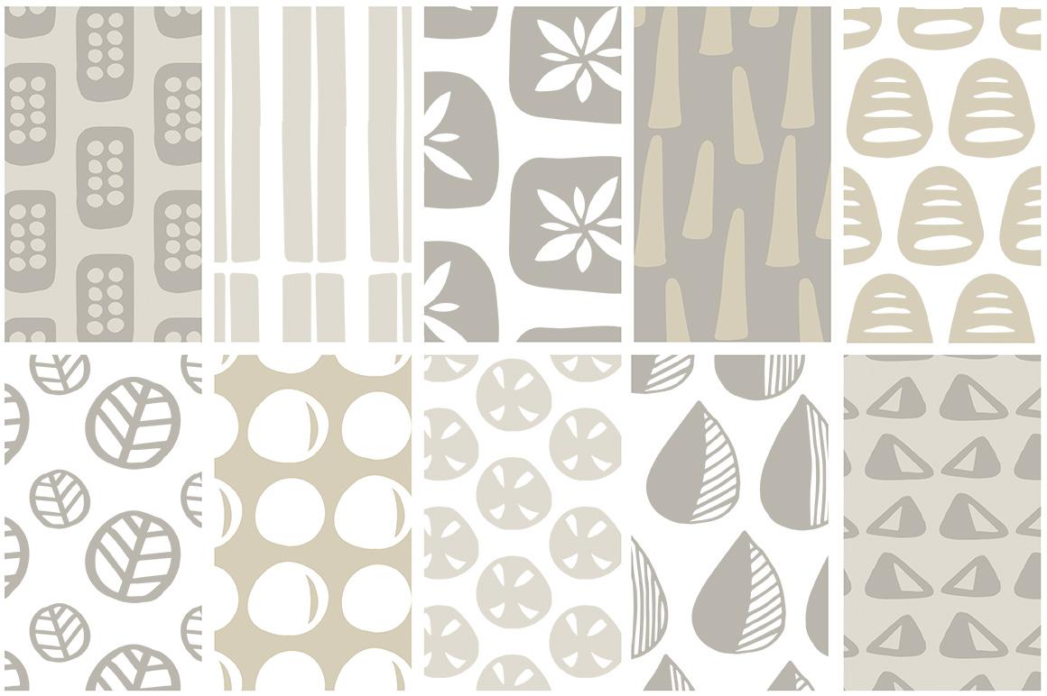 Scandinavian Patterns set of 40 example image 7