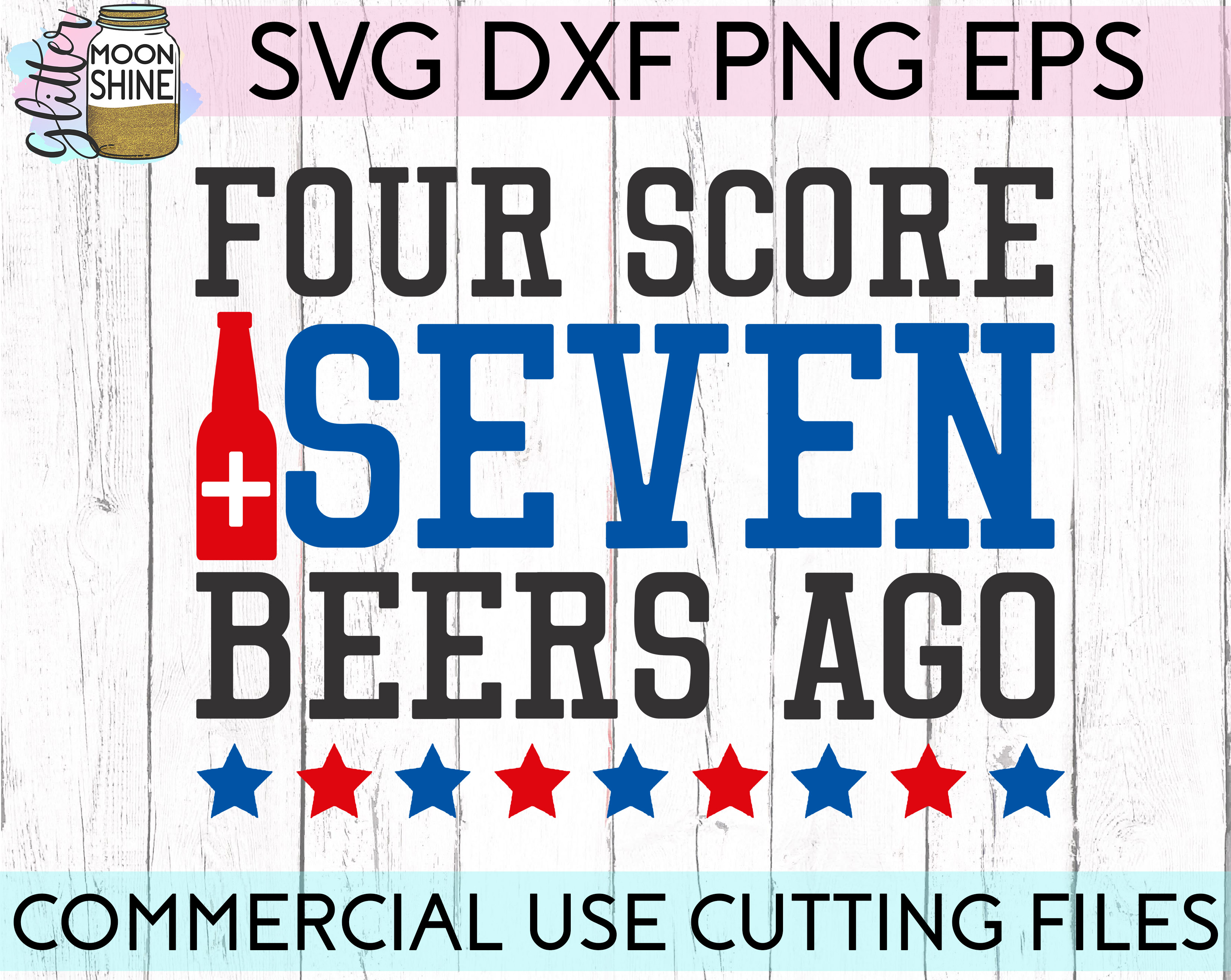 Huge 4th Of July Design Bundle of 23 SVG DXF PNG EPS Cutting Files example image 3