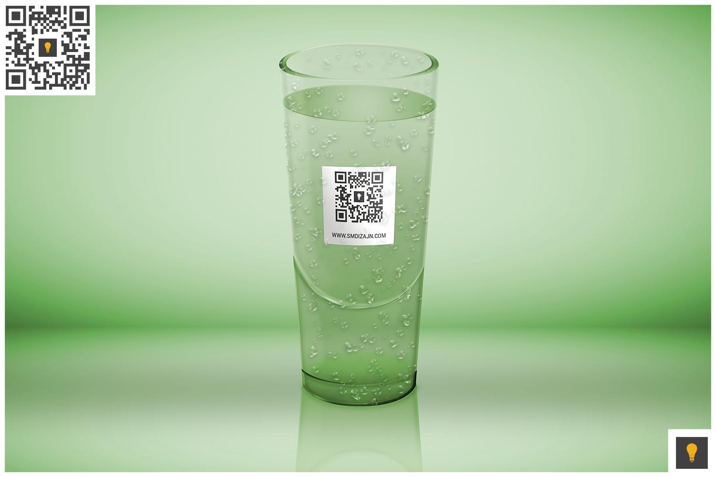 Logo Mockup on Translucent Glass example image 4
