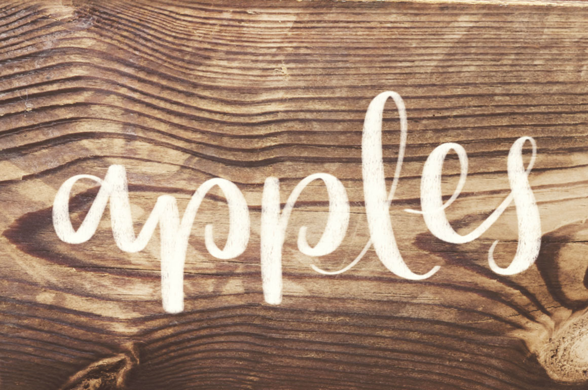 Wood Grain Lettering Procreate Brush example image 4