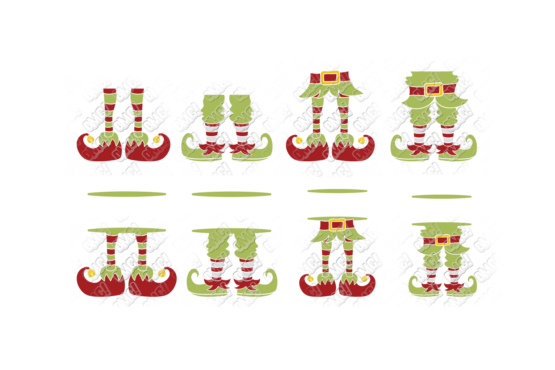 Elf SVG Bundle Monogram Quotes in SVG, DXF, PNG, EPS, JPEG example image 2