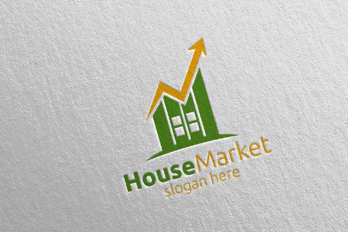 Real Estate Marketing Financial Advisor Logo Design 22 example image 3