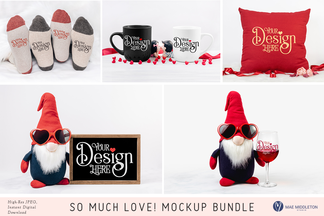 So Much Love! Mock up Bundle, valentine styled photos example image 1