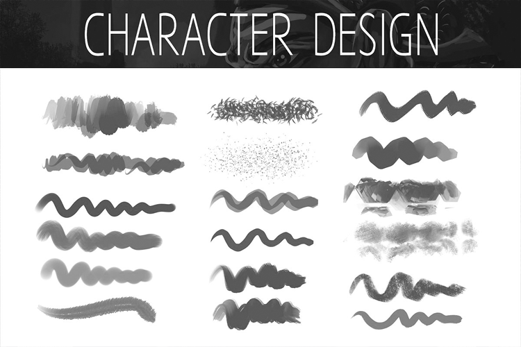 Procreate Character Design Brushes example image 2