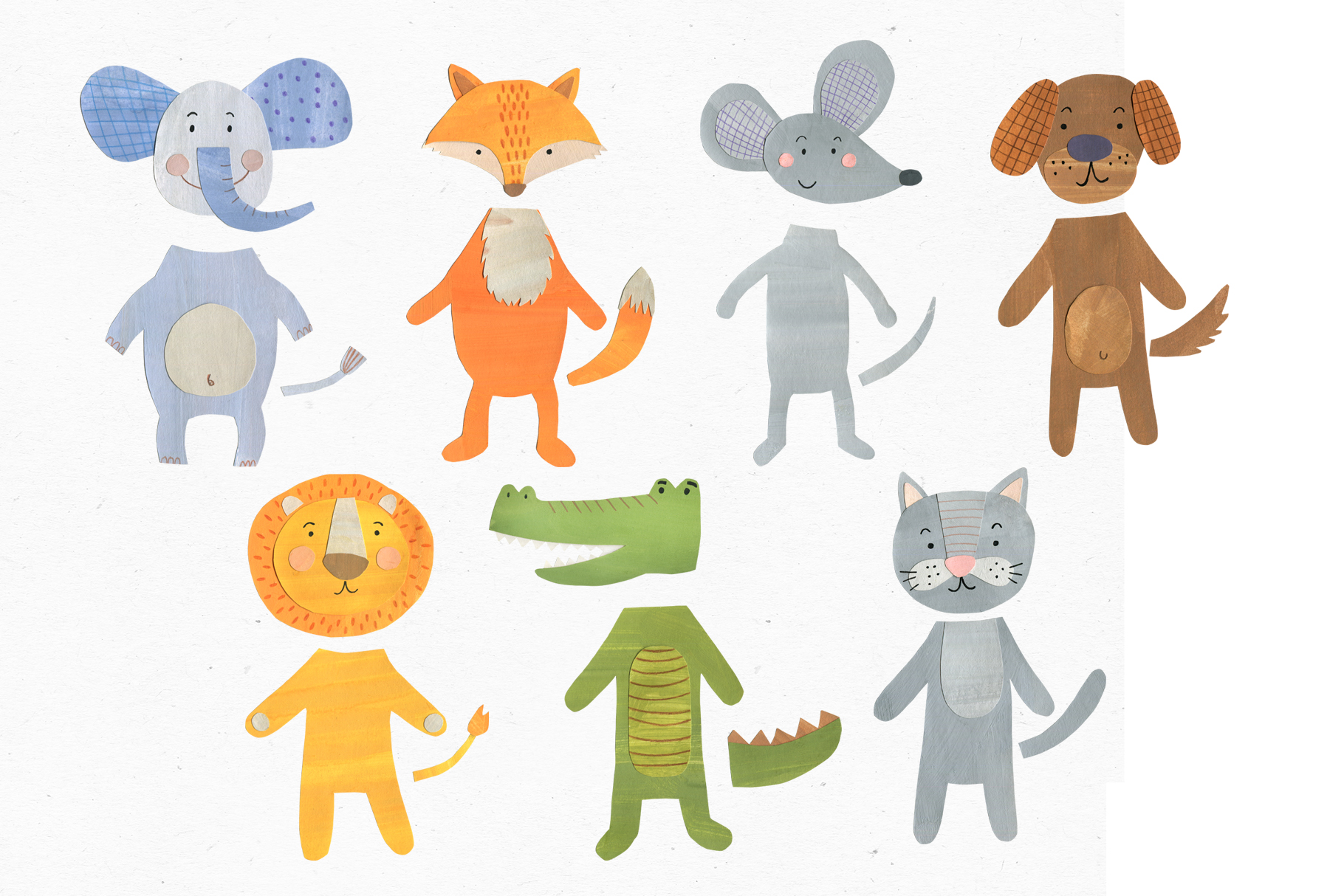 Papercut Animals Clipart example image 4