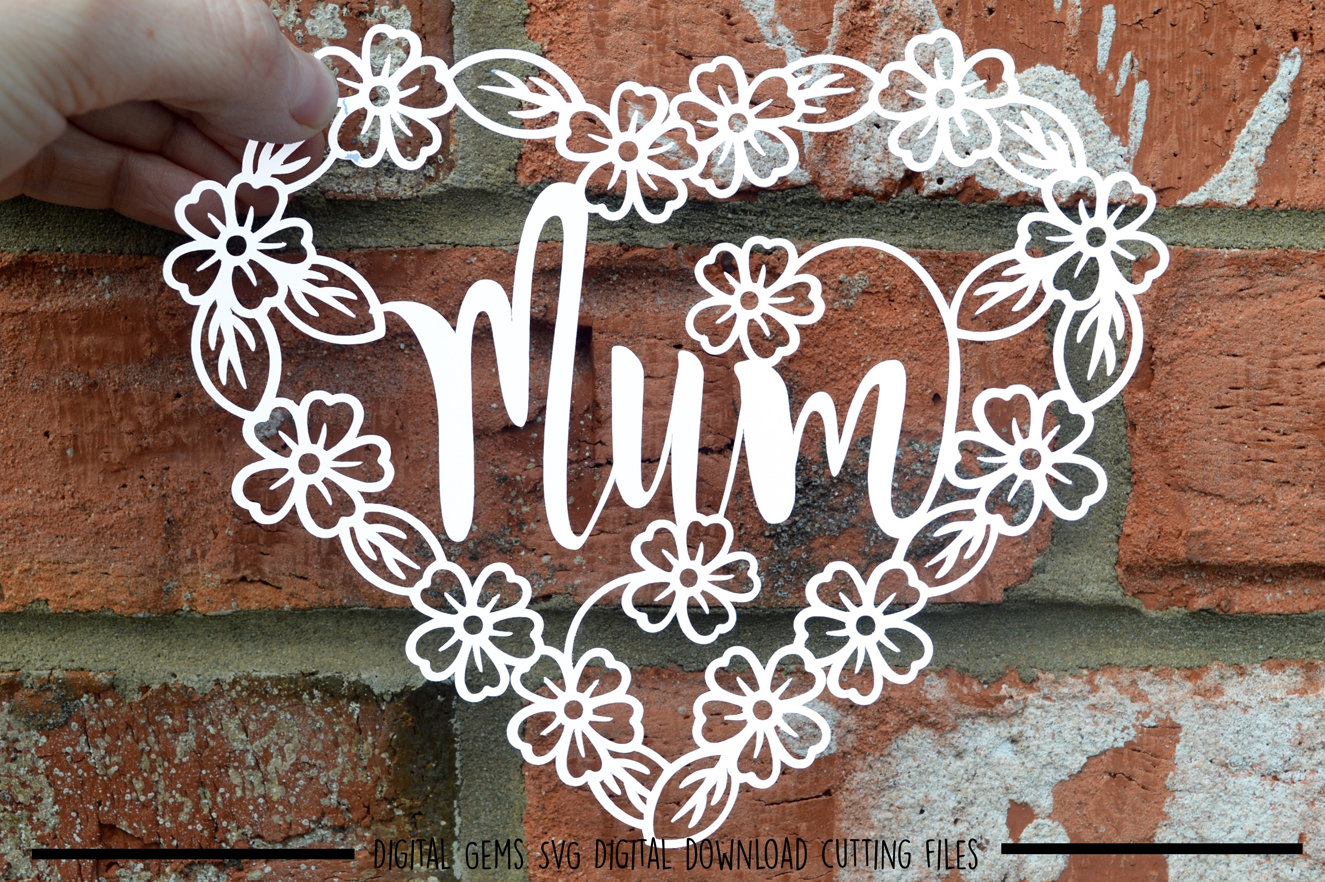 Mum paper cut SVG / DXF / EPS files example image 2