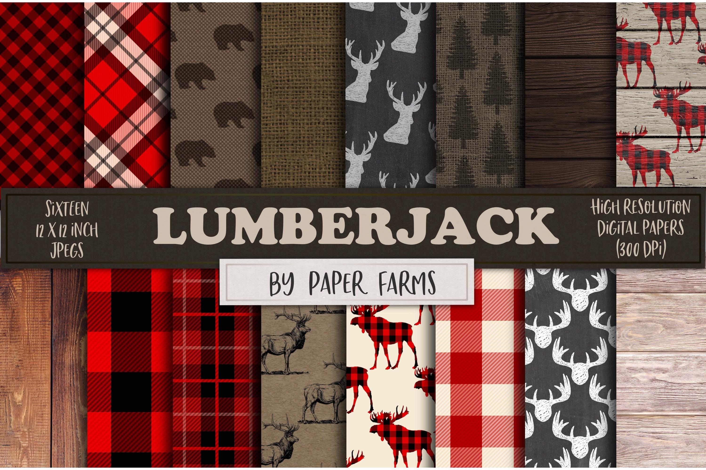 Lumberjack digital paper example image 1