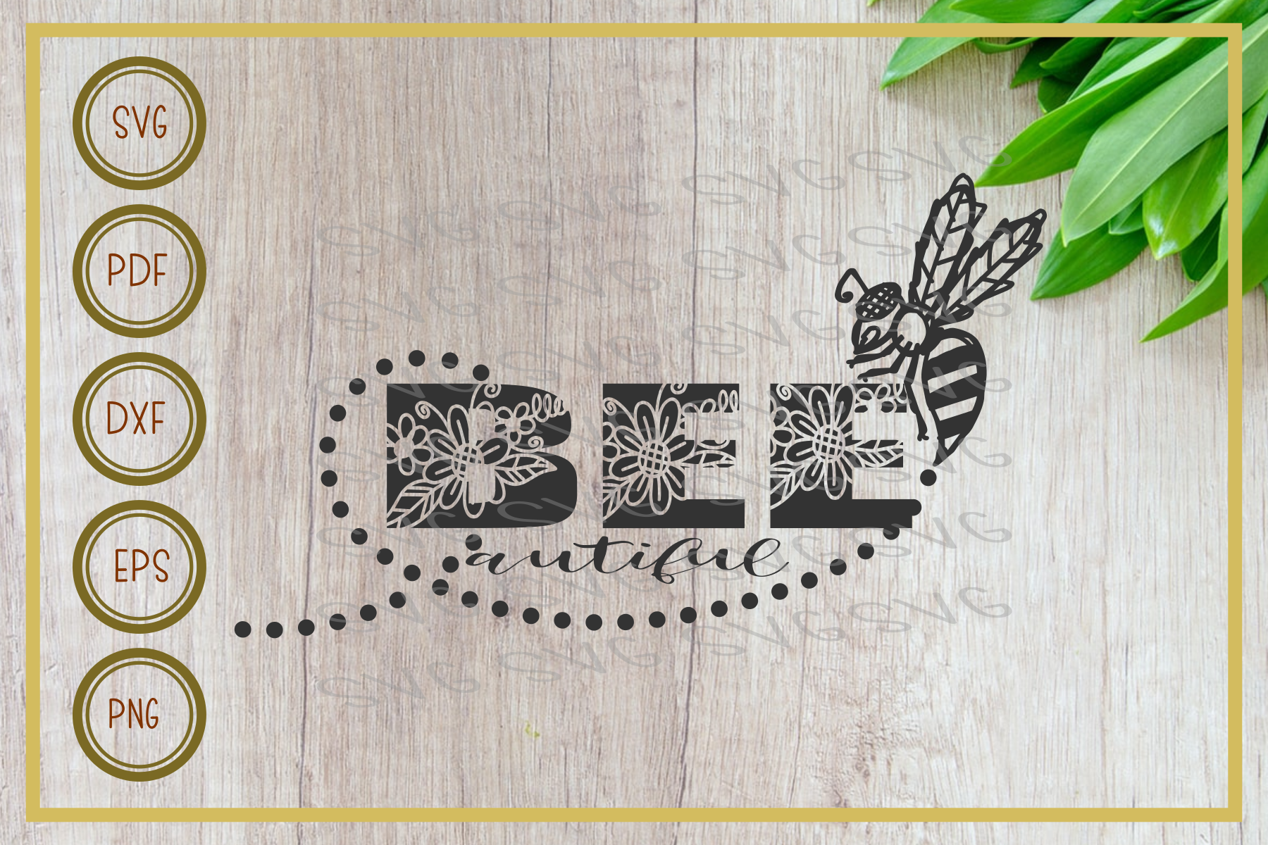 bee svg, beautiful, instant download, cut file, silhouette example image 1