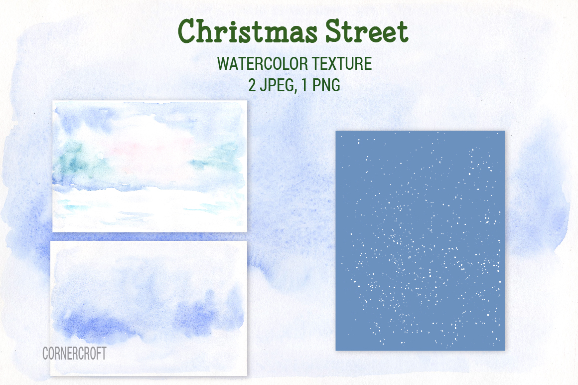 Watercolor Christmas Street  example image 7