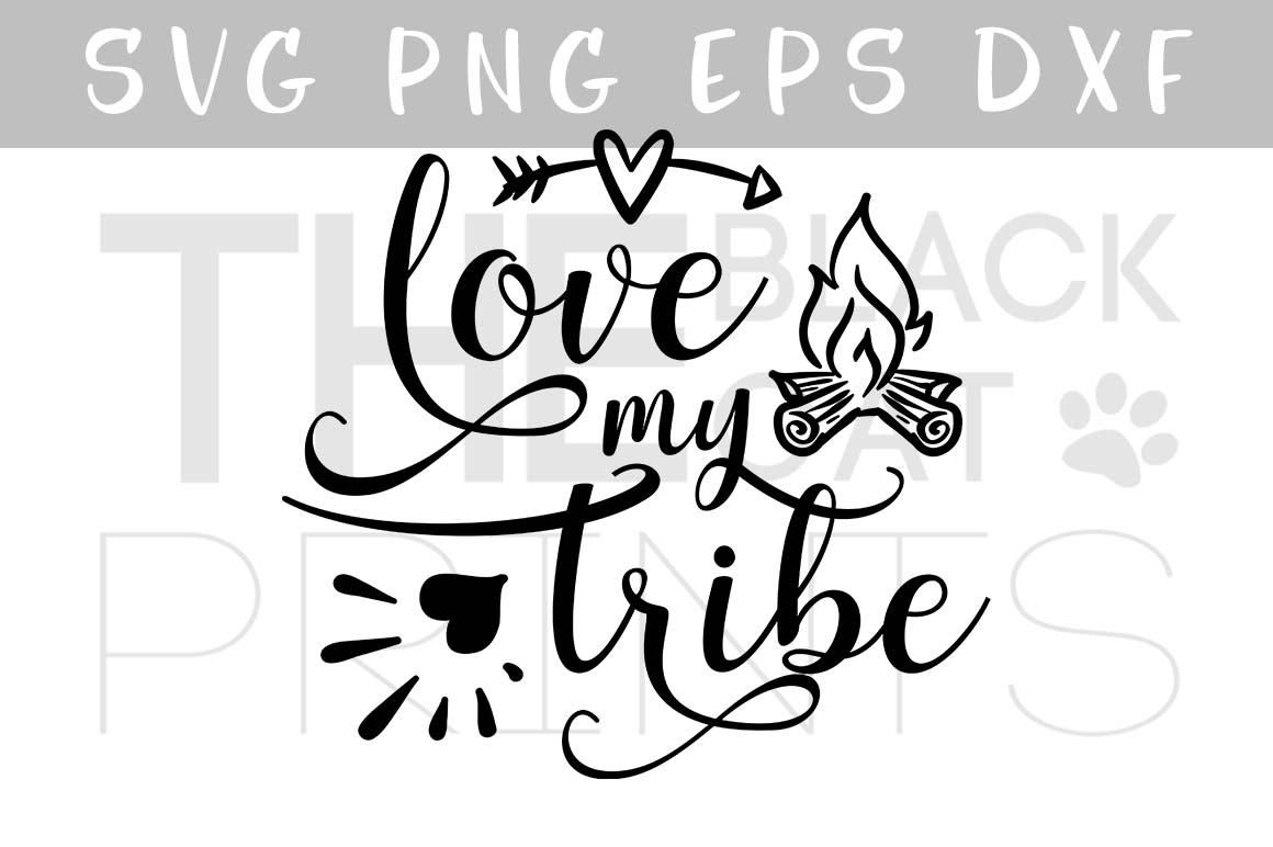 Love my tribe arrow & fireplace SVG PNG EPS DXF example image 1