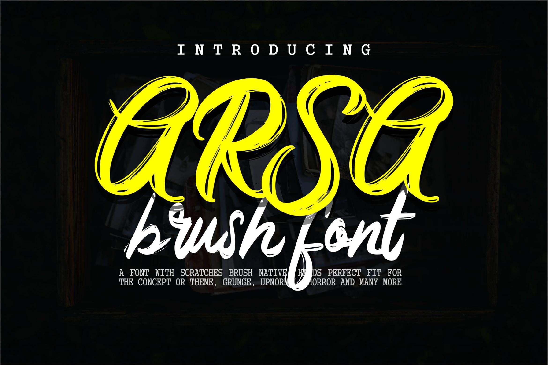 Arsa - Brush Font example image 1