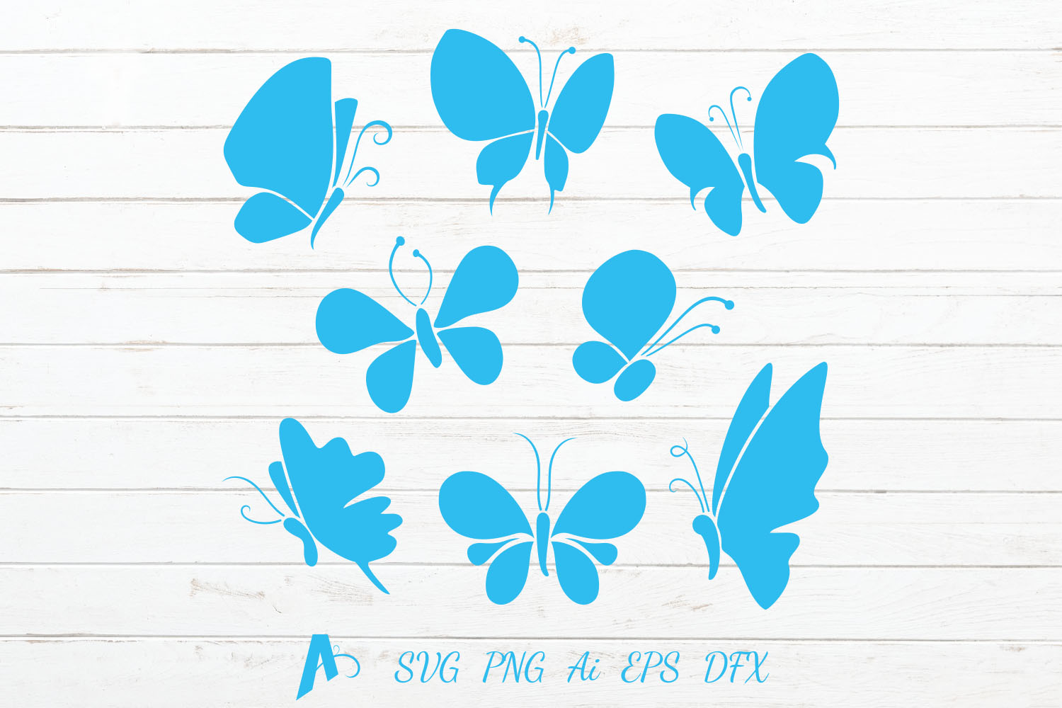 Butterfly Vector Icons/ Butterflies Illustration. example image 1