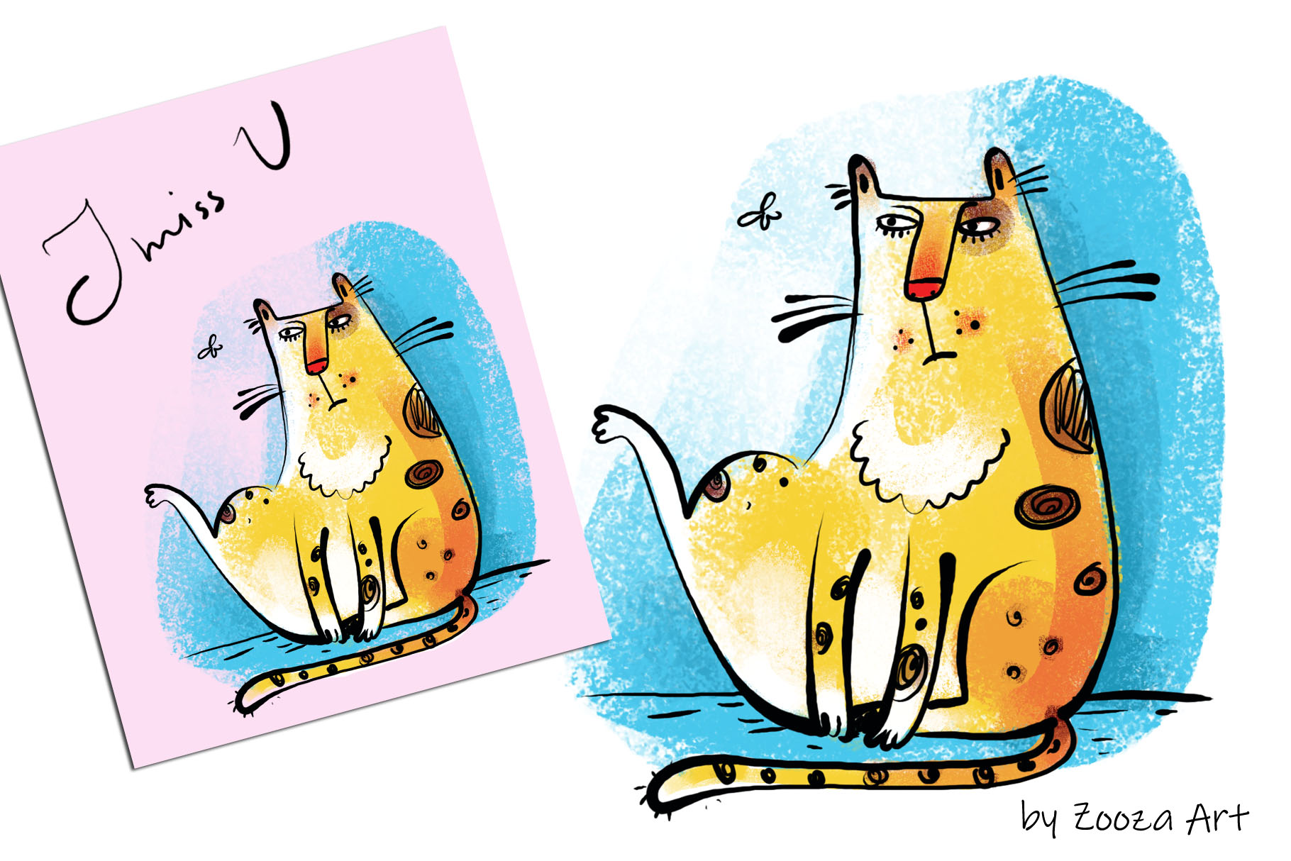Wild Wild Cat - 14 illustrations example image 14